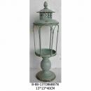 鐵藝油燈造型燭臺-綠-y15137-鐵材藝術系列-鐵材擺飾