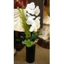 黑圓柱造型花藝-y15155-人造花藝