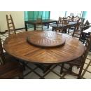 柚木大型圓桌y15178傢俱系列-實木家具(訂製品)