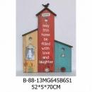 彩色小屋便條木掛鉤壁架-y15145 立體雕塑.擺飾 立體擺飾系列-其他