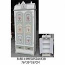 仿舊彩繪童話屋雙門高櫃-y15143-白色實木典雅地中海風格