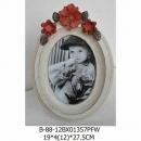 仿舊木製圓形紅花相框-y15144-相框系列