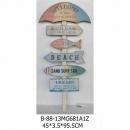 遮陽傘指示牌木壁架-y15146 立體雕塑.擺飾 立體擺飾系列-其他