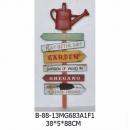 澆水壺指示牌木壁架-y15148 立體雕塑.擺飾 立體擺飾系列-其他