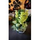 大白盆造型花藝-y15156-人造花藝