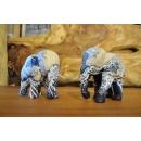 白浪彩繪木雕大象(一對)-y15158-木雕(已售出)--可預購