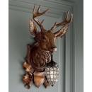 鹿頭造型壁燈-金-y15163-燈飾-壁燈