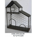 鐵藝仿舊房屋展示壁架-y15169-鐵材藝術系列-鐵材擺飾