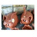 陶擺飾兔子與花(Rabbit)-y15171-立體雕塑-擺飾-立體童趣擺飾系列(一對)