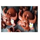 陶擺飾牛與小鳥(Buffalo and Birds)-y15172-立體雕塑-擺飾-立體童趣擺飾系列(一對)