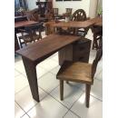 柚木幾何方塊收納書桌y15174傢俱系列-實木家具
