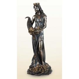 銅雕系列-銅雕人物-財富女神 y12551 立體雕塑.擺飾 人物立體擺飾系列-西式人物系列