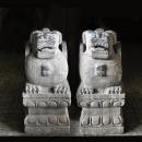 聚寶圖招財擺飾天青石貔貅(一對)y13754 立體雕塑.擺飾 立體雕塑系列-動物雕塑系列