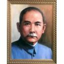 國父油畫遺像-y15268-肖像人物訂製