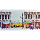 油畫街景-y15363-畫作系列---已售出 , 可訂製
