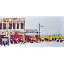 油畫街景-y15364-畫作系列---已售出 可訂製