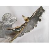 y16169 立體雕塑.擺飾 立體擺飾系列 動物、人物系列作  荷塘情趣-銅擺作