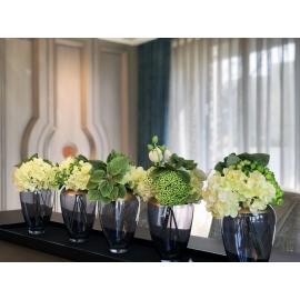 小品花藝.水平花藝-y16184花藝設計-水平花藝(玄關桌.電視櫃盆花 )