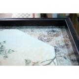 y16193裝框裱褙相框系列- 裱框成品參考-花好月圓