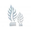 新雕塑-大小鏤葉(白) y09524 立體雕塑.擺飾 立體擺飾系列-幾何、抽象系列