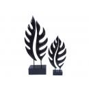 新雕塑-大小鏤葉(黑) y09526 立體雕塑.擺飾 立體擺飾系列-幾何、抽象系列
