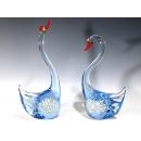 水晶飾品 藍天鵝(一對) y12769 水晶飾品系列-玻璃水晶 No.002 水晶飾品 藍天鵝(一對)