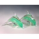 玻璃水晶夜光海豚(一對)  y12768 玻璃水晶 水晶飾品系列---無庫存