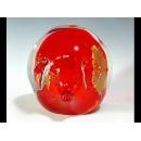 玻璃水晶紅色金箔豬(一組)  y12752 水晶飾品系列