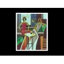 瓷版.陶版畫-陶瓷手繪工藝畫TIL18(y00252 畫作系列-33 cm x 41 cm)