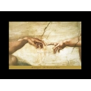 y00289 複製畫 Michelangelo 米開朗基羅-亞當的創作(細部)M725