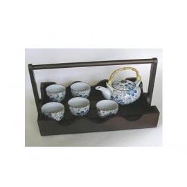 y00531 日式茶具組附典雅提籃-花藤H3098