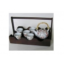 y00533日式茶具組附典雅提籃-粉櫻H3097