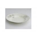 y00613 白金牡丹骨瓷湯盤20cm H0202-11