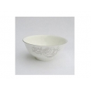 y00618 白金牡丹骨瓷飯碗11cm H0202-06