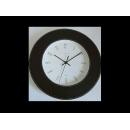超靜音原木皮革壁鐘-黑 y00695 時鐘.溫度計.鏡子 溫度計.壁掛鐘壁掛鐘H5270---無庫存