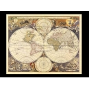 y01693 複製畫 Visscher-New World Map, 17th Century V114 (y00779)