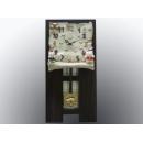 招財貓琴譜時鐘 y13461 時鐘.溫度計.鏡子 溫度計.壁掛鐘