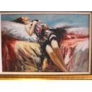 少女油畫 -尺寸可訂製-y01141