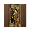相擁天使時鐘-金(白) y01171 時鐘.溫度計.鏡子 桌鐘