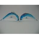 玻璃水晶水晶海豚-藍 y01171 水晶飾品系列
