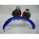 玻璃水晶喜鵲樹枝-紅 y01172 水晶飾品系列