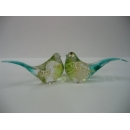 玻璃水晶喜鵲-綠 y01178 水晶飾品系列