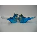 玻璃水晶喜鵲-藍 y01180 水晶飾品系列