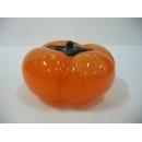 玻璃水晶金箔柿子(中) y01183 水晶飾品系列