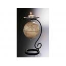 地球儀蠋台-仿古色(英文版) y01317 立體雕塑.擺飾 地球儀系列--無庫存