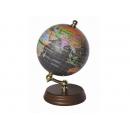 木質底座彩色霧面地球儀(英文版) y01321 立體雕塑.擺飾 地球儀系列--無庫存