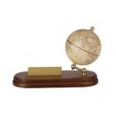 實木商用名片座地球儀-仿古色(英文版) y01322 立體雕塑.擺飾 地球儀系列--無庫存