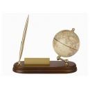 實木商用附筆座名片座地球儀-仿古色(英文版) y01324 立體雕塑.擺飾 地球儀系列--無庫存
