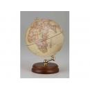 木質底座霧面地球儀-仿古色 y01326 立體雕塑.擺飾 地球儀系列--無庫存