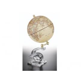 水晶造型底座地球儀-仿古色 y01329 立體雕塑.擺飾 地球儀系列--無庫存